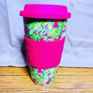 NWT LILLY PULITZER CERAMIC TRAVEL COFFEE TUMBLER